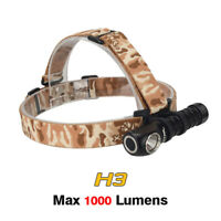 XTAR H3 Warboy CREE XM-L2 U3 Cool White LED 1000 Lumen Headlamp Headlight