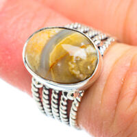Ocean Jasper 925 Sterling Silver Ring Size 5.25 Ana Co Jewelry R51934F
