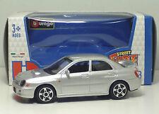 Bburago 30010 Street Fire Subaru Impreza WRX STI - Argento - METAL Scala 1:43