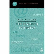 Continuum Research Methods: Research Interview by Bill Gillham (2000,...