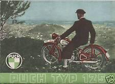 PUCH TYP 125 PROSPEKT 1948 STEYR DAIMLER WIEN OLDTIMER ÖSTERREICH MOTORRAD