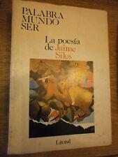Litoral Palabra mundo ser la poesia de Jaime Siles N° 166/67/68