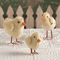 Bethany Lowe - Easter - Fabric Chicks, Set of 3 - PF5923