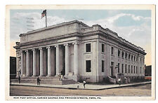 York Pa New Post Office Vintage Fair and Square 1919 Postcard
