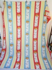 Vintage Garfield The Cat Full Flat Sheet Bedding Crafts Quilting Striped 1978