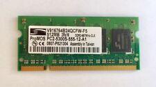 ProMOS 512MB PC2-5300S Laptop Memory Ram Unbuffered • NON-ECC • DDR2-667