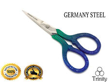 Multi Purpose, Small Embroidery Fancy Scissors colour Plated Floral Pattern 9 CM