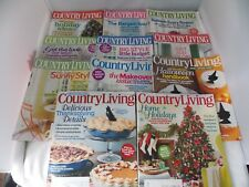 Lot of 11 Country Living Magazines-Complete Year 2010