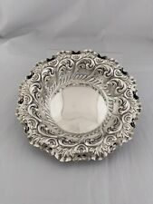 More details for victorian antique silver strawberry bowl 1894 london fenton bros sterling