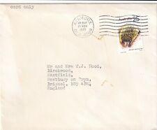 Yy1390 Australia Qld Kenmore 21 Nov 1975 unsealed cover Uk; 25c Anteater stamp