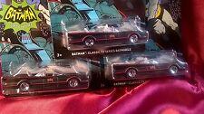 Lot Of 3 Hot Wheels Batman Classic TV Series Batmobile Mattel #1/6 Free Shipping