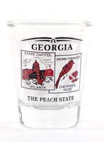 GEORGIA STATE SCENERY RED NEW SHOT GLASS SHOTGLASS