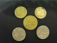 Old KAZAKHSTAN 5 Coin Lot 5,10,20 Tenge 2000 #820