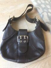 FURLA Brown Leather Small Chic Handbag / Shoulder Bag  Buckles Italian Leather