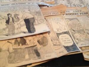 Gasoline Alley Large lot of dailies from Chicago Trib Nov 1 to Dec 18 1919