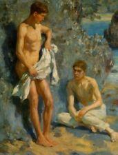 POSTCARD / H.S. TUKE / After the Bath 1921 / Gay Interest