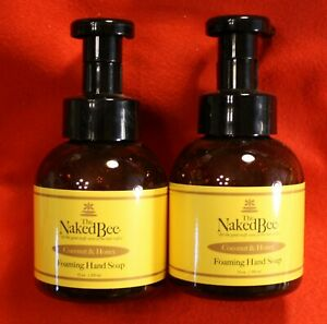 The Naked Bee 2-12 oz Moisturizing Foaming Hand Wash Soap in Coconut & Honey
