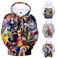 Men Women Hoodie Sweatshirt 3D ONE PIECE Print Jacket Coat Pullover Tops