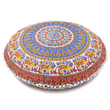 Floor Round Cushion Cover Mandala Throw Bohemian Pillow Pillows Indian Sofa Case