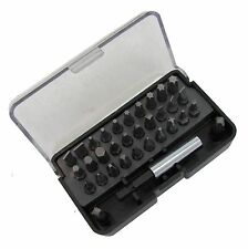 33pc Screwdriver driver bit set Slotted Phillips Hex Torx star TX kit car drill