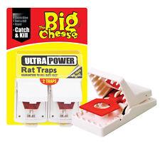 Nuevo Big Cheese Ultra Potencia Rata Trampa Roedor Killer trampas Pk2 STV149