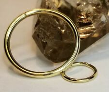 14k Solid Gold Seam Ring Hoop Piercing / Gold Body Jewelry