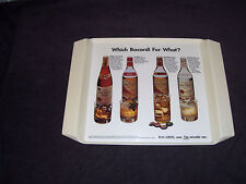 Vintage 1972 Bacardi Rum Plastic Serving Tray GOOD CONDITION!