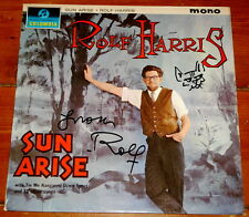 ROLF HARRIS ~ SUN ARISE ~ VERY RARE UK COLUMBIA VINYL LP 1963 ~ SIGNED + SKETCH