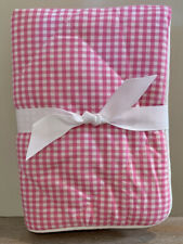 NEW Pottery Barn Kids Gingham Cozy TODDLER Sham BRIGHT PINK