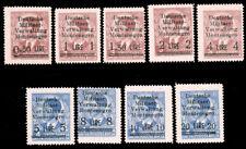 Montenegro #3N1-3N9 MNH CV$375.00 F-VF Michel EUR600.00 German Occupation