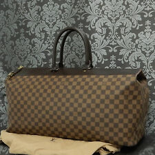 Rise-on LOUIS VUITTON DAMIER Greenwich GM Brown Travel Bag #10