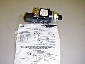 General Electric GE CR104P Logic Reed Contact Block Rotary Selector Switch Black