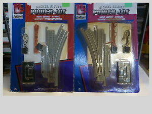 N Gauge 1 Pair Of Life Like Power Loc Nickel/Silver Remote Controlled Switches N