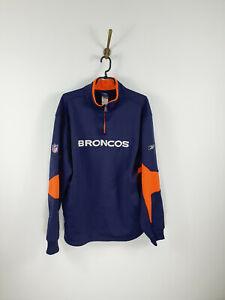 Reebok Denver Broncos NFL Pullover Jacket 1/4 Zip Men Size: M