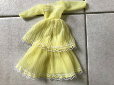 Really pretty vintage yellow dress fits Barbie Sindy Fleur Petra etc dolls