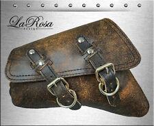 2004-2018 La Rosa Rustic Brown Leather Harley Sportster Models Left Saddle Bag