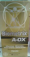 BIOMETRIX A- OX Antioxidants + Ginseng and Ginko Biloba - 60 CAPSULES -FREE SHIP