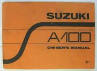 Suzuki A100 K Dec 1972 #'72-12 Motorcycle Owners Handbook