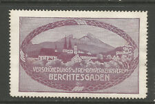 Germany/Berchtesgaden Beautification & Tourism Society poster stamp/label