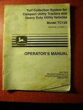 John Deere TC125 TURF COLLECTION SYSTEM Operators Manual OMMT6673 C9