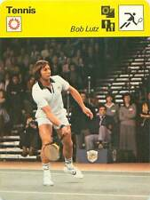 FICHE CARD: Robert  (Bob)  Lutz  USA TENNIS 1970s