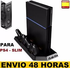 Base de carga cargador para ps4 PlayStation4 y ps4-Slim 2 EN 1 Soporte vertical