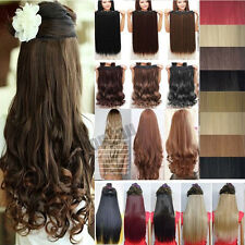 Real Thick 3/4 Full Head Clip in Hair Extensions Extentions 5 Clips On Anycolor