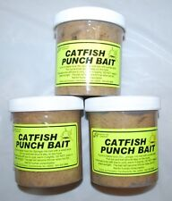 3 ea. Louisiana Style Catfish Punch Bait 16oz Jars (48oz) Distibuted By Grizzly