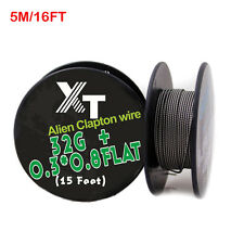 5m/roll Alien Clapton Wire heating wire for RDA RBA Rebuildable vape DIY Coil