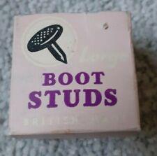 Cobbler's Vintage Large Boot/Shoe Studs Grippy in Original Box Bovver Doc Marten