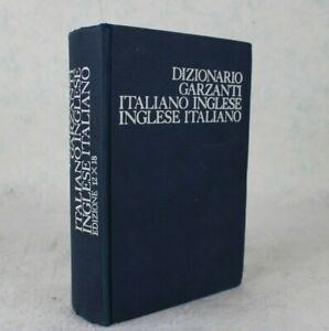 Dizionario Garzanti ITALIANO INGLESE 1982 Edizione 12x18 INGLESE ITALIANO Impara