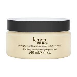 Philosophy Lemon Custard 8.0 oz Glazed Body Souffle Brand New