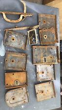 More details for antique victorian steel & brass  door locks rimlocks for restoration plus more