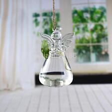 Angel Shape Planter Hanging Glass Vase Flower Hydroponic Stand Plants Bottle US